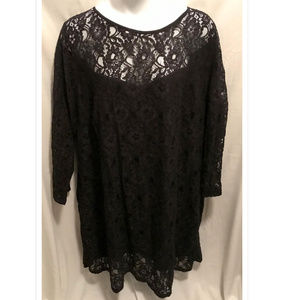 Size 32 Jessica London Dress Black Lace NWoT